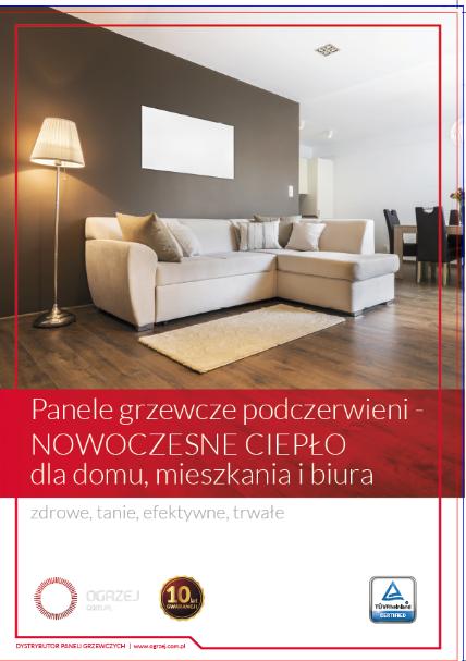 Ogrzewanie na podczerwień. Polski producent udostępnia katalog i cennik na sezon 2019/2020